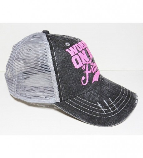 Glitter Working Fitness Distressed Trucker