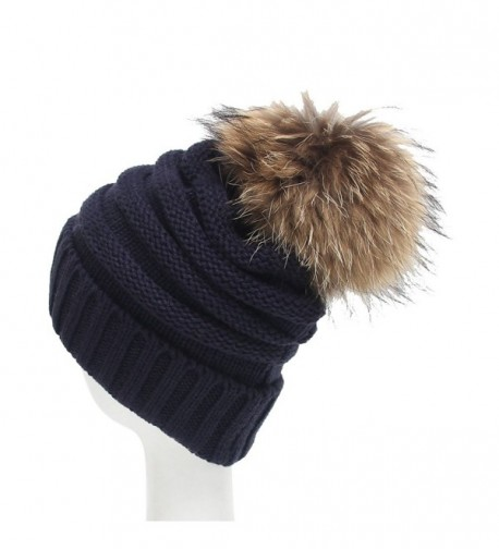 6fd6b687322 Century Star Women Solid Fall And Winter Soft Cap Knit Cable Beanie Fluffy  Fur Pom Pom