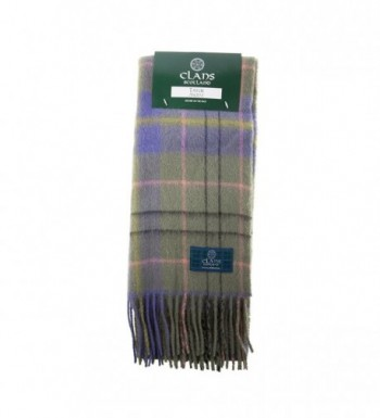 Clans Of Scotland Pure New Wool Scottish Tartan Scarf Taylor Ancient (One Size) - CO123H4946X