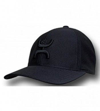 Hooey Brand Black With Black Center Front Logo Flexfit Hat - 1772BK - CB1863TRCKE