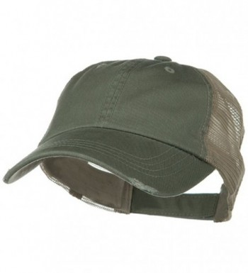 Washed Organic Cotton Mesh Cap - Olive - CG1153M8MT3