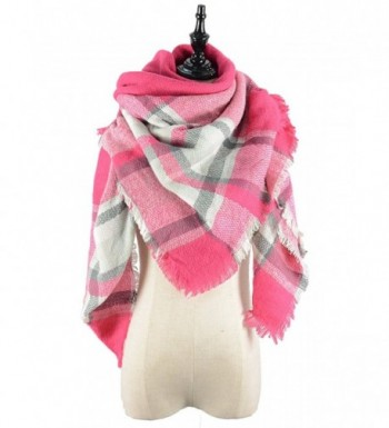 Durio Stylish Blanket Scarves Pashmina - Grey Pink Scarf - CZ1868HHCGU