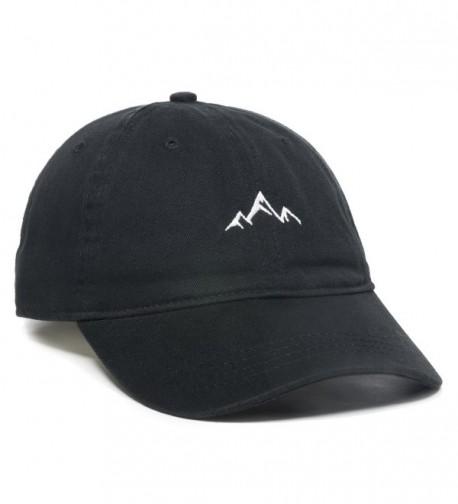 Outdoor Cap Mountain Dad Hat - Unstructured Soft Cotton Cap - Black - CE188LGO8TZ