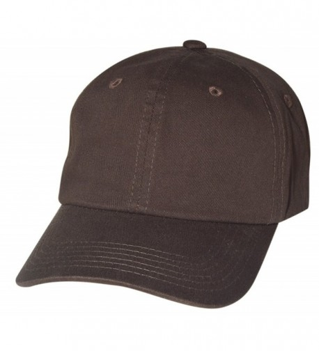 QML Cotton Plain Baseball Daddy Cap Adjustable Hat ( 2 TYPES-33 COLORS ) - Dark Brown2 - C812GVAWGP5