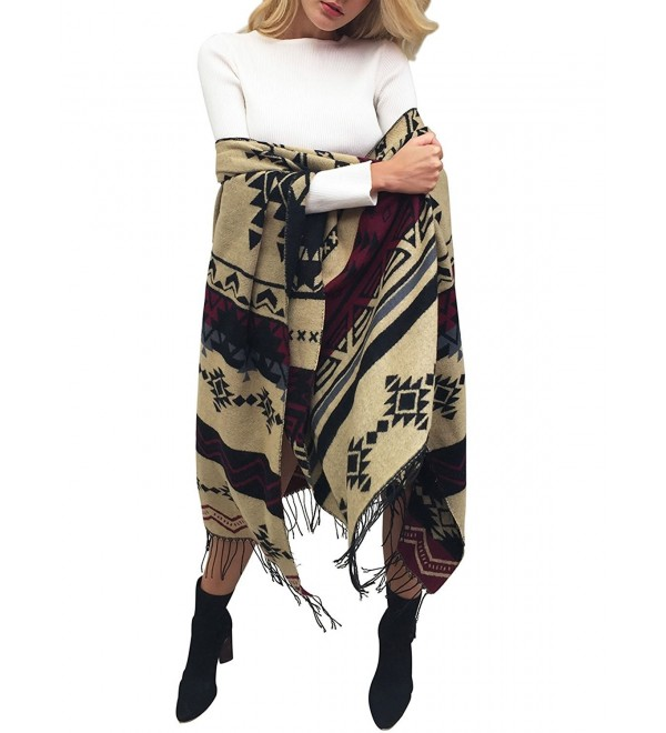 Glamaker Women's Soft Cashmere Pashmina Long Scarf Shawl Wrap - Geometric - CB184TW8SMK