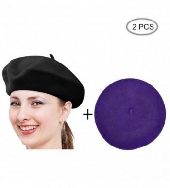 Raylarnia Vintage 15colors Lightweight Beanie Black - Black/Purple - CN1862CCNIQ