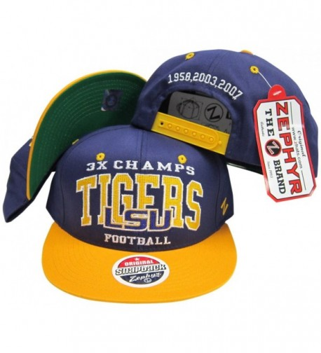 LSU Tigers 3X National Football Champs Adjustable Snapback Hat - C11165FU0ZL