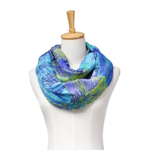 Shokim Womens Artistic Infinity Scarf 71 in Fashion Scarves
