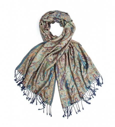 Bohomonde Pashmina Paisley Traditional Jacquard in Fashion Scarves