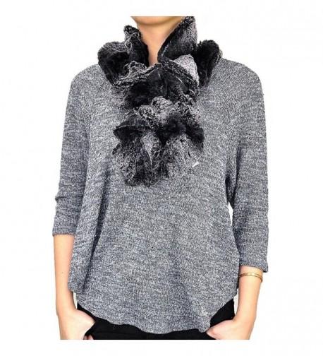 Faux Fur Pull Through Collar Neck Scarf - Gray - C612B16JNDD