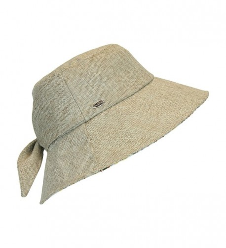 Brown Lined Bucket Packable Crushable in Women's Sun Hats