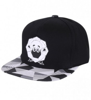 ililily Animal Paper Folding Rubber Logo Flat Bill Snapback Hat Baseball Cap - Sheep-black - CZ12FXL7WS5