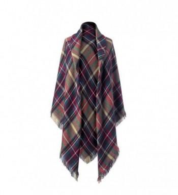 Legendary Whitetails Ladies Upland Blanket Scarf Heritage Plaid - CU187C46EIK