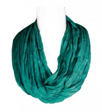 Wrapables Lightweight Silky Soft Infinity Loop Scarf- Turquoise - C411JEQNN6L