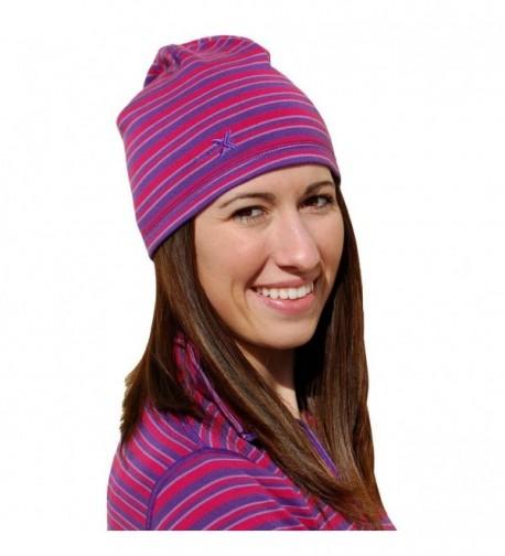 WoolX Merino Wool Hat - Orchid Stripe - CQ11MQQAW0Z