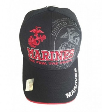 Aesthetinc U.S. Military Marines Officially Licensed Cap Hat - Black - CB11WPHBUKH