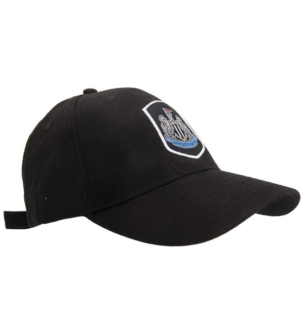 Newcastle United FC Official Football Crest Baseball Cap - Black - C612F5V4QZZ