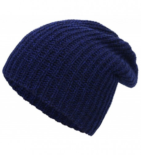 Simplicity Men / Women's Thick Stretchy Knit Slouchy Skull Cap Beanie - Navy 2 - CH12MXX4UDE