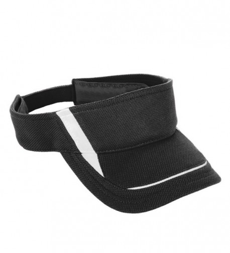 Augusta Sportswear Adult Adjustable Wicking Mesh Edge Visor - Black/White - C0115PSOG13