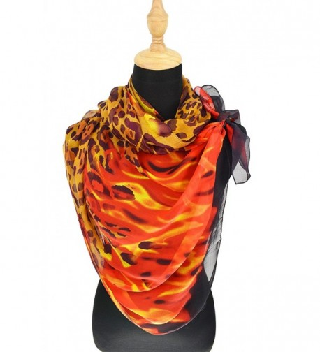 ELEGNA Mulberry Womens Printed Leopard in Cold Weather Scarves & Wraps