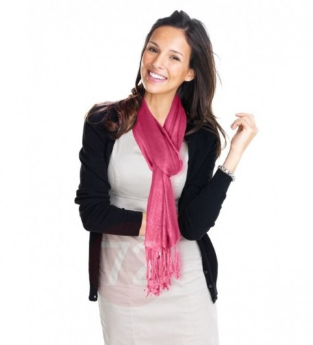 Kuldip Unisex Pashmina Scarf Shawl Wrap Throw Vibrant Pink - CY1130YEN3F