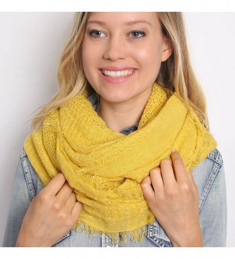 MYS Collection Infinity Scarf Mustard in Cold Weather Scarves & Wraps