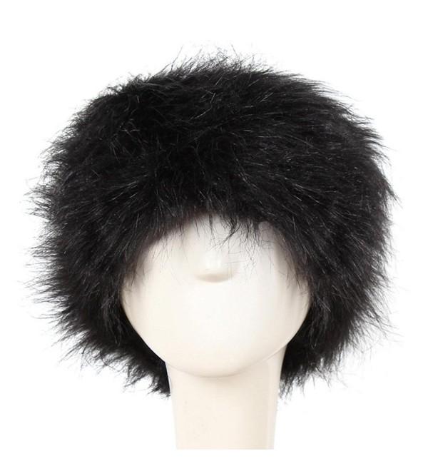 Besde Winter Hat Keep Warm Faux Fur Headgear Cap - Black - C51886IAMGW