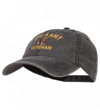 E4hats Veteran Military Embroidered Washed