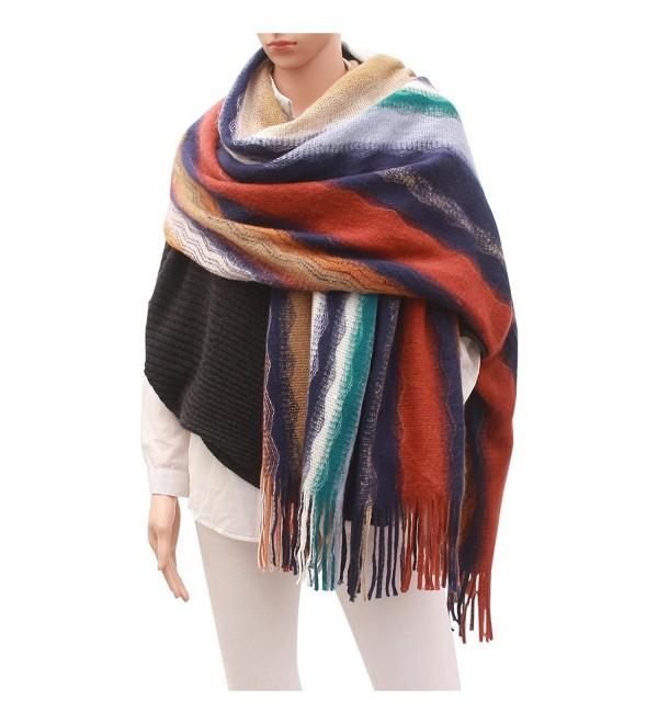 Women Cashmere Winter Blanket Scarf - 2 - C6186REGRE4