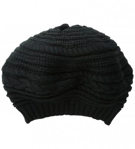 Scala Women's Textured Slouch Beret - Black - C811XN09HBT