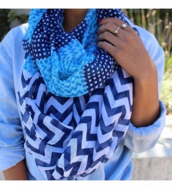 Pop Fashion Infinity Chevron Pattern in Fashion Scarves