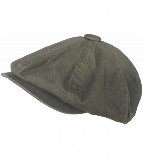 Broner 8/4 Apple Jack Cap Cotton Newsboy Hat (Olive- Medium) - CE11FGG0WN5