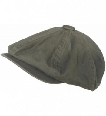 Broner 8/4 Apple Jack Cap Cotton Newsboy Hat (Olive- Medium) - CE11FGG0WN5