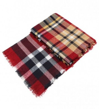Wonderfit Women Plaid Blanket Tartan in Fashion Scarves