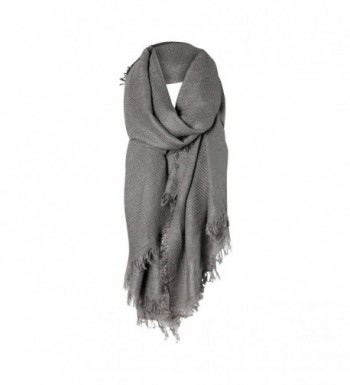 Charcoal Gray Solid Cozy Color Womens Fashion Warm Winter Blanket Scarf Scarves - CB1877DQI2Q