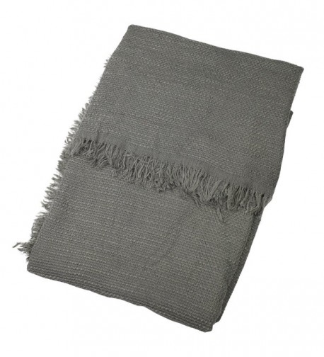 Charcoal Womens Fashion Blanket Scarves in Fashion Scarves