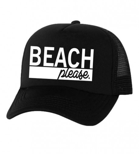 Beach Please Truckers Mesh snapback hat - Black - CE11N8G81FB