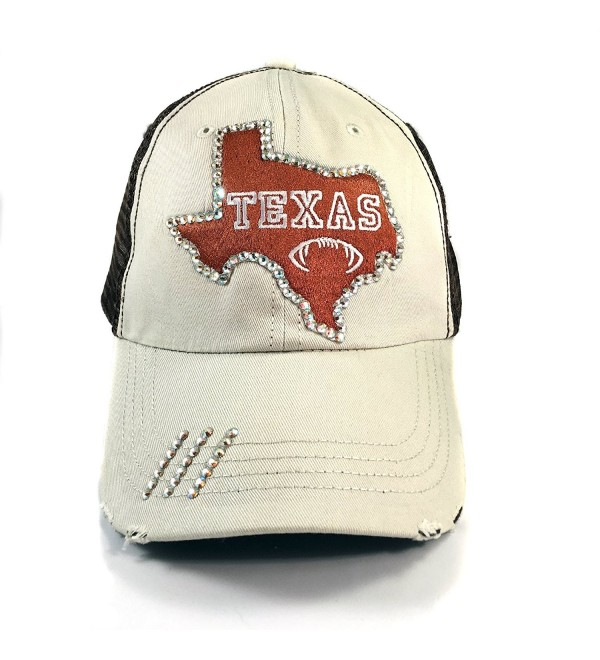 Elivata Texas State Football Womens Fitted Baseball Hat- Orange Trucker- OS - CU12MCRIWJV