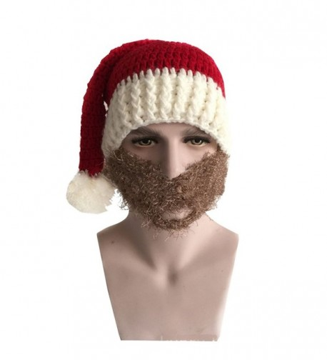6019e64912e Warm Knitted Christmas Costume Hat Santa Claus Cap with Wind Mask Red+grey  CI12NE38UZA