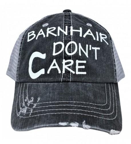 Loaded Lids Women's Barn Hair Don't Care Horseshoe Bling Baseball Cap - Grey/White - CO182H2HAK3