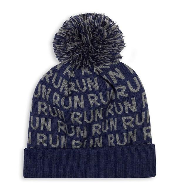 Gone For a Run Pom Pom Beanie Hat For Runners | Running Hats - Run Run Run (Navy) - CW1875HREON