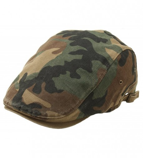 Camouflage Driving Military Patterned Newsboy