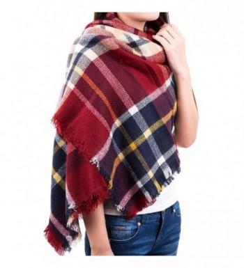 "Chichitop Large Tartan Fashion Women Scarf Lovely Best Gift Scarf Wrap Shawl 59""x59"" - Red - C112N8TKTVN"