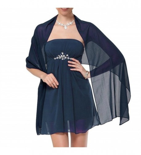 MarryWang Girl chiffon dress shawl and packaging - Dark Navy Blue - CB12DUPMRV3