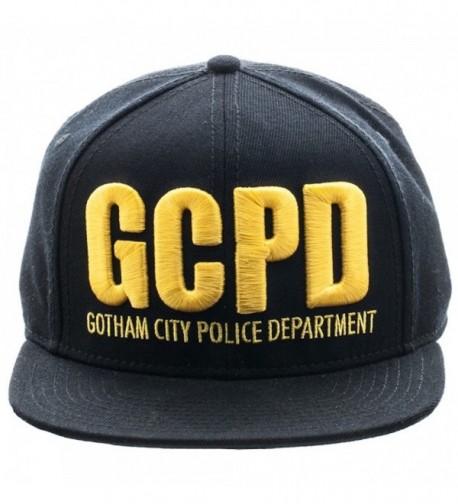 Gotham Batman GCPD Embroidered Logo Flat Brim Baseball Cap Snapback Hat - CG120ZPKBHN