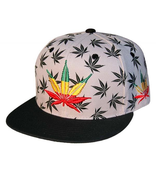 eff3104f7038f Leader of Generation Marijuana Kush Pot Leaf Weed Cannabis Embroidered Flat  Bill Snapback - Grey