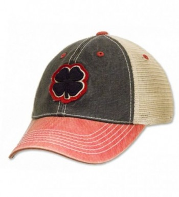 Black Clover LIVE LUCKY Two-Tone Vintage Cap - Black/Stone/Red - CC12N5IIGMF