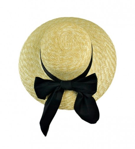 sur tete Boater 1 Size Natural in Women's Sun Hats
