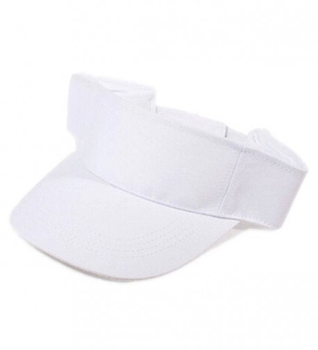 680ea4a27065c Gotoole Unisex Summer Adjustable Sun Visor Tennis Golf Hat Outdoor Cap -  White - CU18228IR77