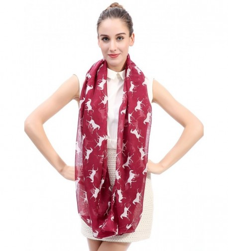 Lina Lily Running Horses Infinity in Fashion Scarves